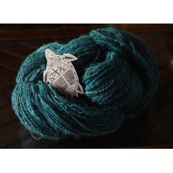 fil fantaisie artisanal filé au rouet laine soie mohair angora chameau