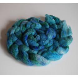 mèche fibres à filer ou feutrer laine teinte à la main
