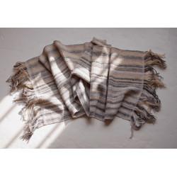 écharpe tissée main artisanale laine mérinos fil filé au fuseau