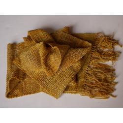 écharpe tissée main artisanale laine mérinos et soie fil filé au rouet