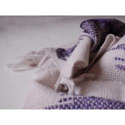 écharpe tissée main artisanale alpaga et soie fil filé au rouet