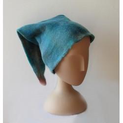 Bonnet de lutin bleu-vert...