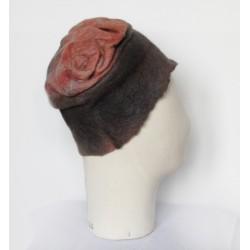 Chapeau plissé en feutre de...