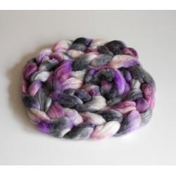 mèche ruban laine teint main